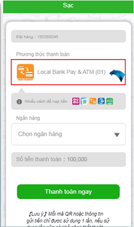 All-in-one payment bước 3